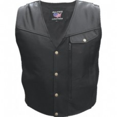 Men's Vest With Braid Trim