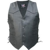 Men's Tall Basic Vest With Side Laces