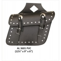 Medium Studded Throw-Over PVC Saddle Bag