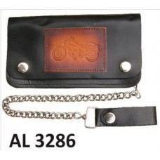 6 Inch Biker Chain Wallet with 6 pockets and Motorcycle