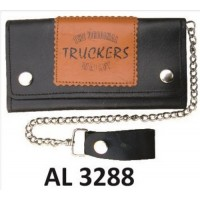 6 Inch Biker Chain Wallet with 6 pockets and Truckers Logo