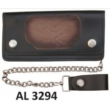 8 Inch Biker Chain Wallet with 5 pockets and Flying Eagle
