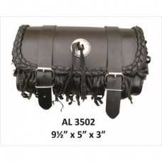 Small Fringe and Braid Leather Tool bag