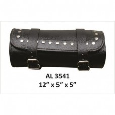 Studded Round Leather Tool Bag
