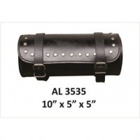 Studded Round Leather Tool Bag-1