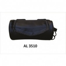 Soft Leather Tool Bag With Braid & Velcro Closure.