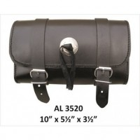 Medium Plain Leather Tool bag with Silver Conchos.