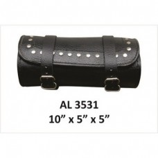 Round Studded Leather Tool Bag.