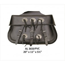 X-Large Braided Throw-Over Saddle Bag In PVC