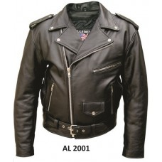 Men's Motorcycle Jacket in Split Cowhide Leather