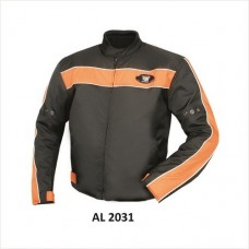 Men's Cordura Jacket With Orange Stripe