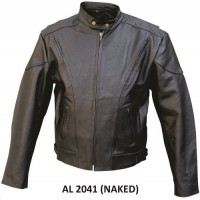 Men's Jacket In Naked Cowhide Leather