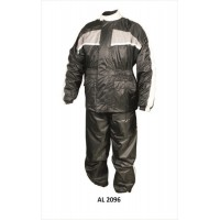 Men's Gray/Black Rain Suit, 3/4 Length Jacket With Matching Trouser
