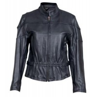 Ladies Vented Jacket In Drum Dyed Naked Cowhide