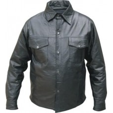 Men's Western Style Leather Shirt