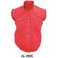 Men'S Sleeveless Red Shirt