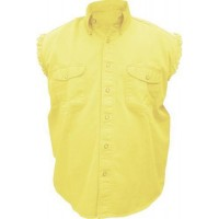 Men's Sleeveless Yellow Shirt