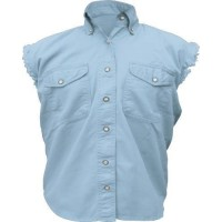 Ladies Sleeveless Light Blue Shirt