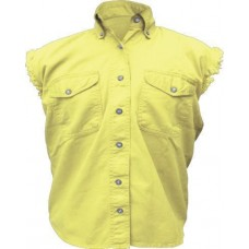 Ladies Sleeveless Yellow Shirt