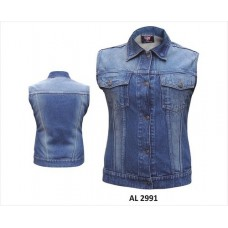 Ladies Sleeveless Dark Blue