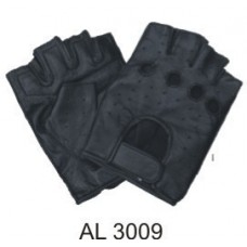 Soft Premium Lambskin Leather Fingerless Gloves