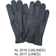 Unlined Leather Driving Gloves With Zippered Back