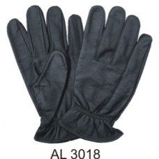 Leather Full Fingered Vented Unlined Driving Gloves With An Elastic Wrist