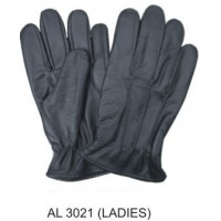Ladies Driving Gloves Lined With Elastic Wrist