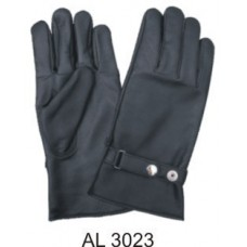 Full Finger Lined Gloves With Silver Snap Adjustment Strap