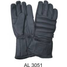 Padded Riding Gloves With A Rain Cover Inside Zipper Pocket & Velcro Strap