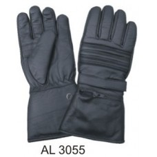 Padded Riding Gloves With Rain Cover Inside Zipper Pocket & Velcro Tab