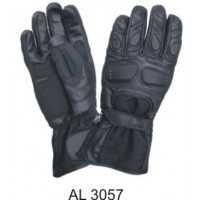 Padded Riding Gloves Leather & Cordura Soft Analine Leather