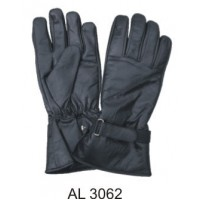 Lightly Lined Leather Riding Gloves With A Velcro Strap