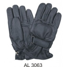 Lightly Lined Leather Riding Gloves