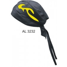 Skull Cap With Yellow Flame