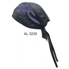 Skull Cap With Purple Flame