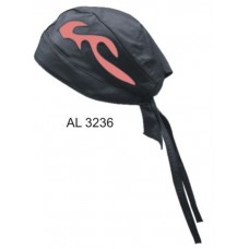 Skull Cap With Pink Flame
