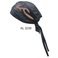 Skull Cap With Brown Flame