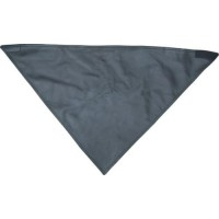 Leather Fleece Lined Black Bandana