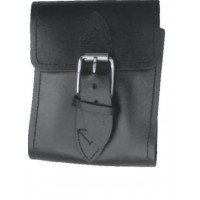 Leather Cigarette Case With Buckle Closure