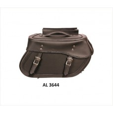 Large Braided Throw-Over Saddle Bag In PVC